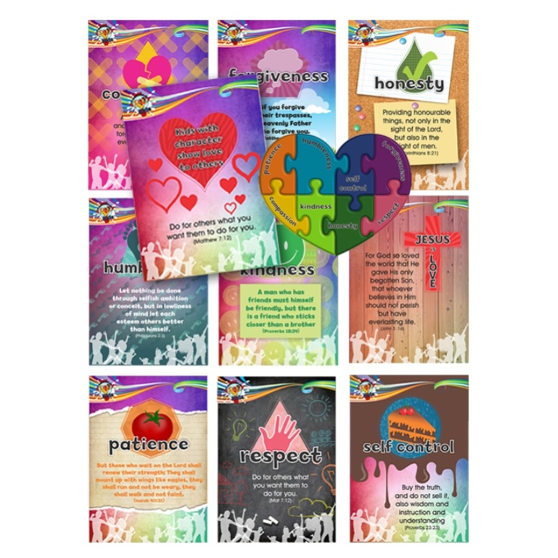 C2. Values Program – Love – A7 Fridge Magnet Set of 11 – English