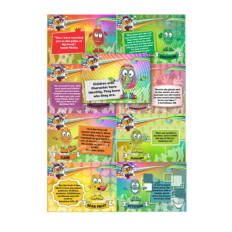 E9. Values Program – Love – A7 Collections Cards(Set of 9) – English