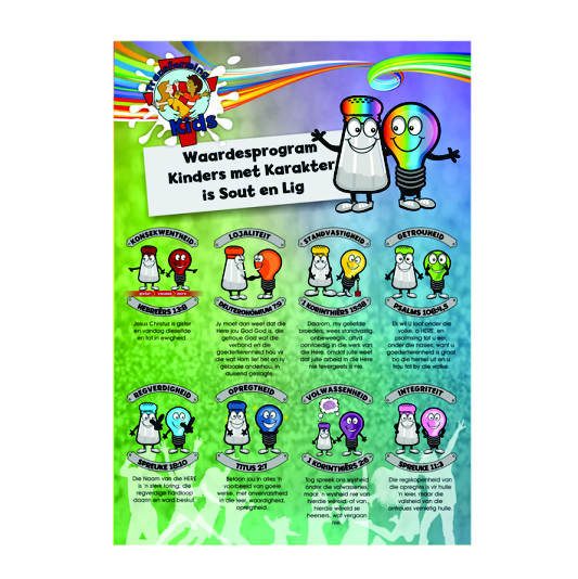 I4. Values Program – Salt & Light – A2 Posters – Afrikaans