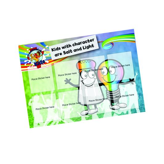 J3. Values Program – Salt & Light – A5 Square Sticker Cards – English