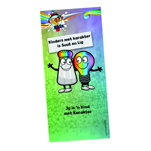 K5. Values Program – Salt & Light – Bookmark – Afrikaans