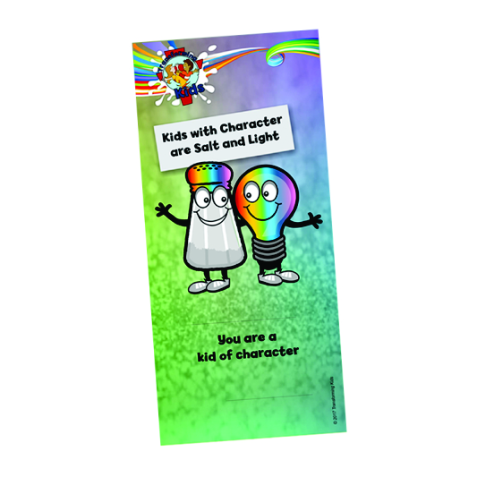 K6. Values Program – Salt & Light – Bookmark – English